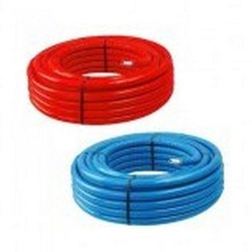 KTM/HOFFER PEx-Al-Pex 5 rétegű cső 16x2, SZIGETELT 6mm zártcellás, piros/kék, 50m/tekercs