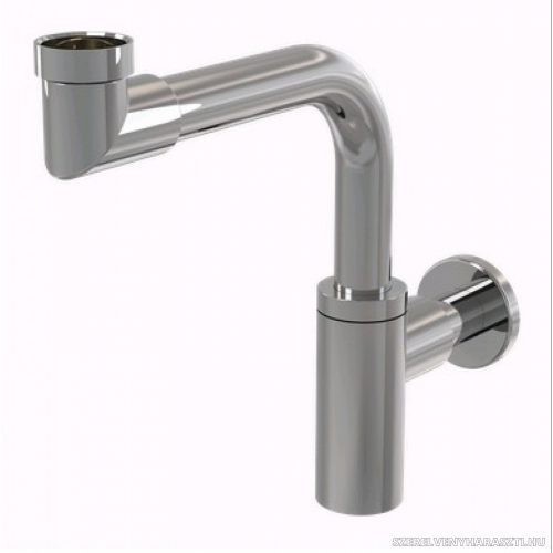 DESIGN mosdószifon DN32 DESIGN, fém, helytakarékos