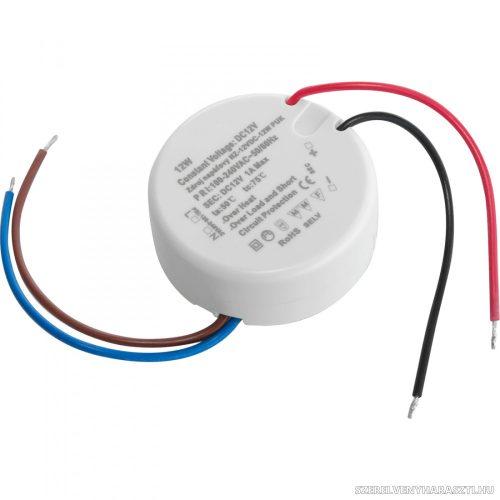 Hálózati tápegység 230 V AC/12 V DC/12 W, IP20