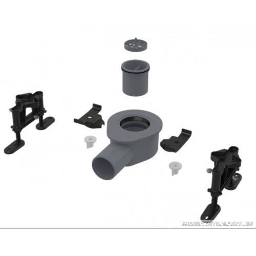 Alacsony szifon DN50 és készlet állítható lábakkal