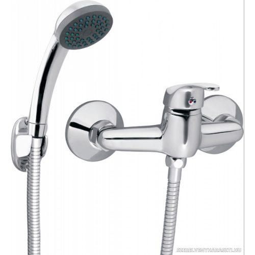 BASIC zuhanycsaptelep fali tartós zuhanyszettel