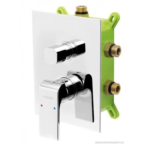 NOBLESS SHARP falba építhető 3 funkciós csaptelep, beépítődobozzal