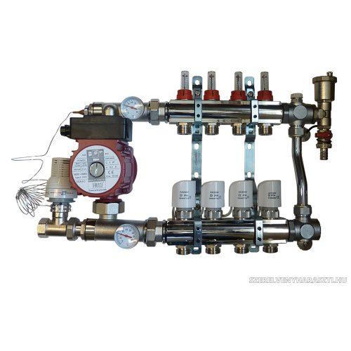 BRH osztó - gyűjtő PF modullal 25/60 A-szivattyúval 11kör