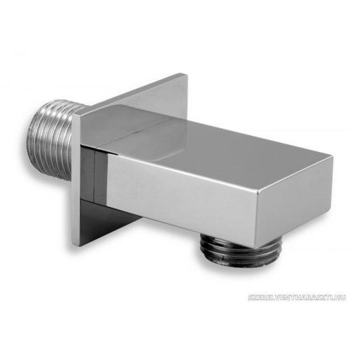 """szögletes fém fali zuhanycsatlakozó 1/2"""""""