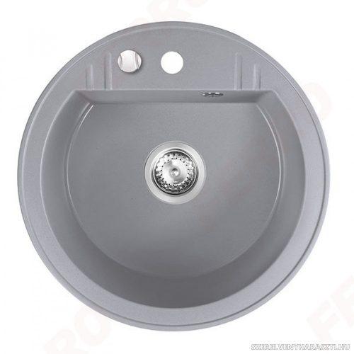 MEZZO II gránit mosogató 1-medencés, átm.51, szürke