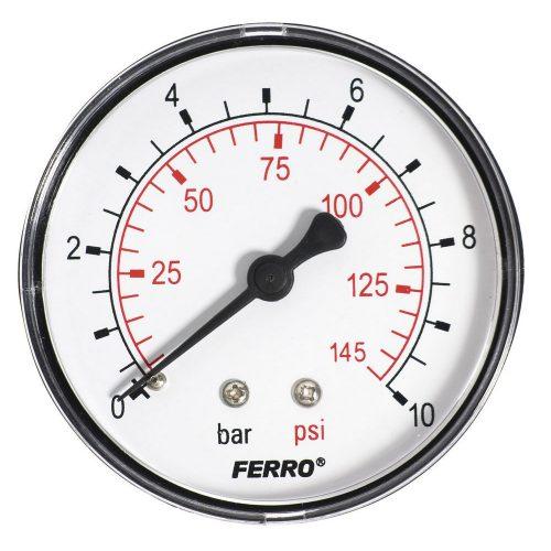 """Nyomásmérő hátsó csatlakozású 10 bar, Ø63 mm, 1/4"""""""