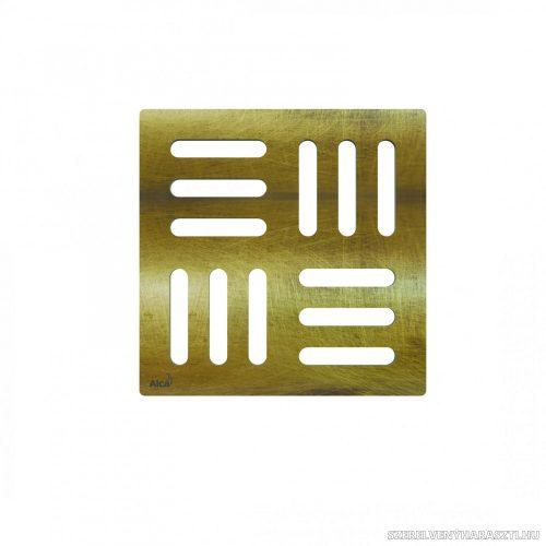 Design rács 102×102 mm bronz-antic