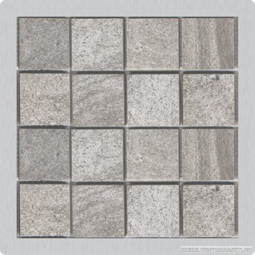 Burkolható rozsdamentes rács a rozsdamentes padlóösszefolyókhoz 92×92 mm
