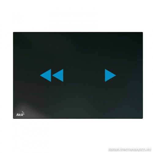 Érintés nélküli nyomólap háttérvilágítással a falsík alatti szerelési rendszerekhez, üveg-fekete