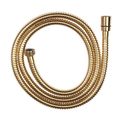 Csavarodásmentes fém aranyszínű zuhanycső 150 cm