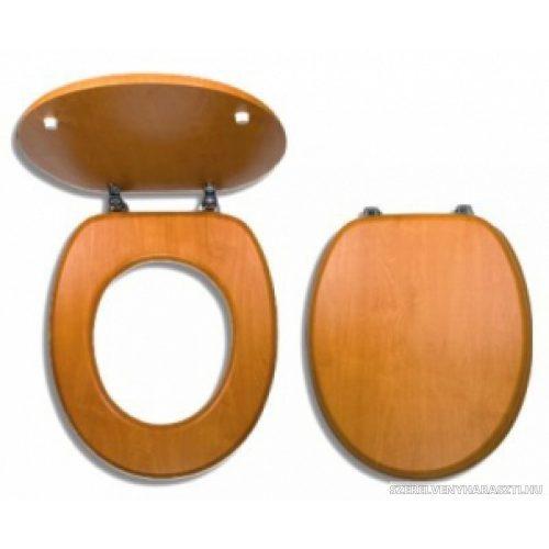 világos dió wc ülőke fém zsanérokkal, fahatású MDF
