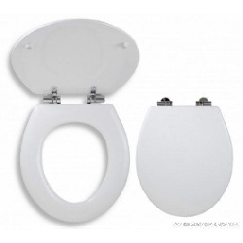 soft close koptatott fehér wc ülőke, MDF
